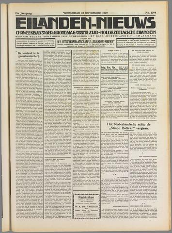 Eilanden-nieuws. Christelijk streekblad op gereformeerde grondslag 1939-11-22
