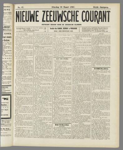 Nieuwe Zeeuwsche Courant 1907-03-26