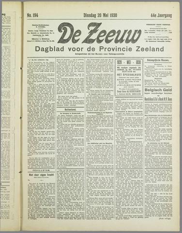 De Zeeuw. Christelijk-historisch nieuwsblad voor Zeeland 1930-05-20