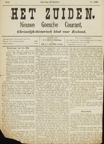 Het Zuiden, Christelijk-historisch blad 1885-10-24