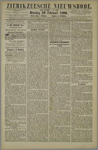 Zierikzeesche Nieuwsbode 1900-02-20