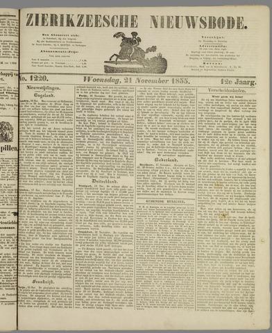 Zierikzeesche Nieuwsbode 1855-11-21