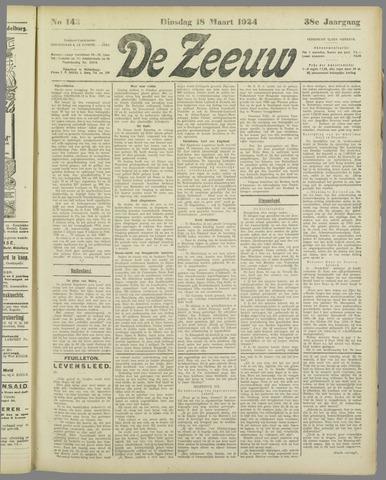 De Zeeuw. Christelijk-historisch nieuwsblad voor Zeeland 1924-03-18