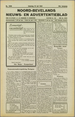Noord-Bevelands Nieuws- en advertentieblad 1952-07-19