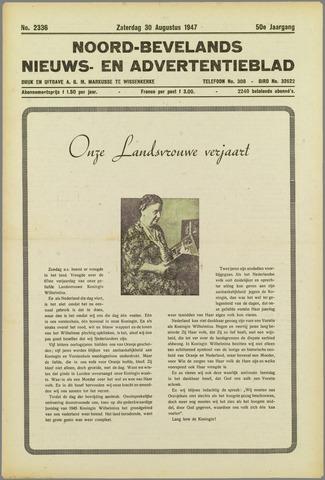 Noord-Bevelands Nieuws- en advertentieblad 1947-08-30