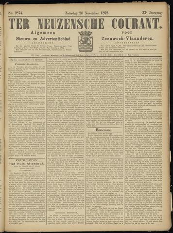 Ter Neuzensche Courant. Algemeen Nieuws- en Advertentieblad voor Zeeuwsch-Vlaanderen / Neuzensche Courant ... (idem) / (Algemeen) nieuws en advertentieblad voor Zeeuwsch-Vlaanderen 1892-11-26