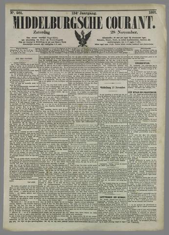 Middelburgsche Courant 1891-11-28