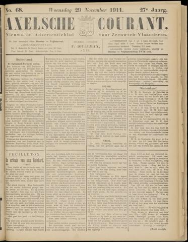 Axelsche Courant 1911-11-29