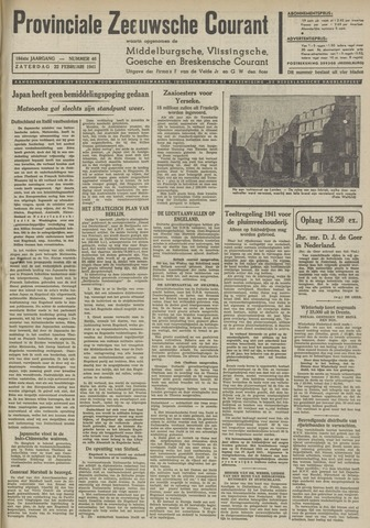 Provinciale Zeeuwse Courant 1941-02-22