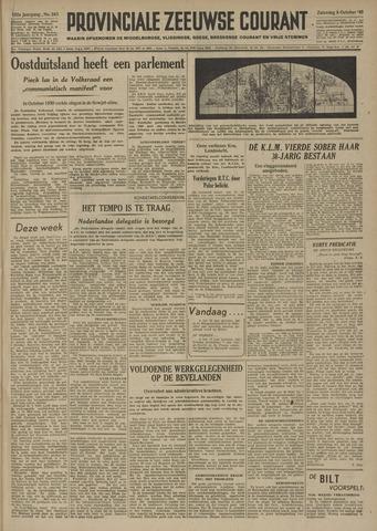 Provinciale Zeeuwse Courant 1949-10-08
