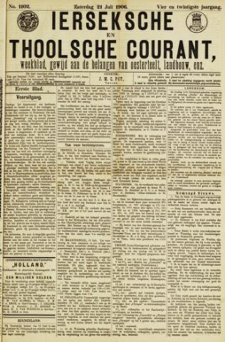 Ierseksche en Thoolsche Courant 1906-07-21