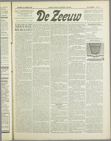 De Zeeuw. Christelijk-historisch nieuwsblad voor Zeeland 1934-02-12