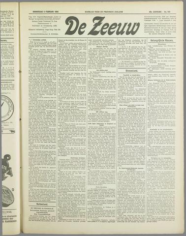 De Zeeuw. Christelijk-historisch nieuwsblad voor Zeeland 1934-02-08