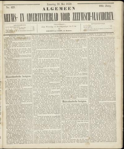Ter Neuzensche Courant. Algemeen Nieuws- en Advertentieblad voor Zeeuwsch-Vlaanderen / Neuzensche Courant ... (idem) / (Algemeen) nieuws en advertentieblad voor Zeeuwsch-Vlaanderen 1870-05-21