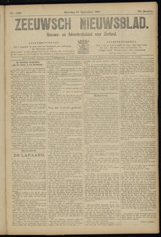 Ter Neuzensch Volksblad. Vrijzinnig nieuws- en advertentieblad voor Zeeuwsch- Vlaanderen / Zeeuwsch Nieuwsblad. Nieuws- en advertentieblad voor Zeeland 1919-09-27