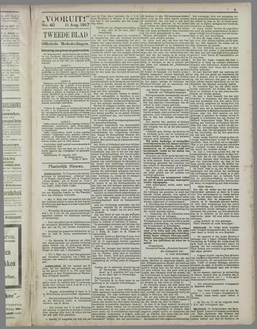 """""""Vooruit!""""Officieel Nieuws- en Advertentieblad voor Overflakkee en Goedereede 1917-08-11"""