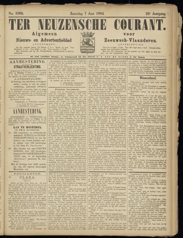 Ter Neuzensche Courant. Algemeen Nieuws- en Advertentieblad voor Zeeuwsch-Vlaanderen / Neuzensche Courant ... (idem) / (Algemeen) nieuws en advertentieblad voor Zeeuwsch-Vlaanderen 1884-06-07