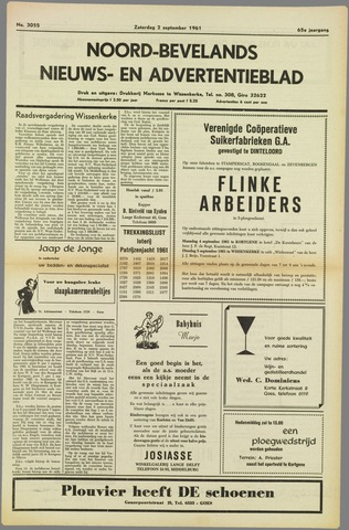 Noord-Bevelands Nieuws- en advertentieblad 1961-09-02