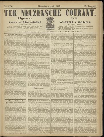 Ter Neuzensche Courant. Algemeen Nieuws- en Advertentieblad voor Zeeuwsch-Vlaanderen / Neuzensche Courant ... (idem) / (Algemeen) nieuws en advertentieblad voor Zeeuwsch-Vlaanderen 1885-04-08