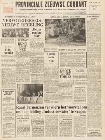 Provinciale Zeeuwse Courant 1968-03-29