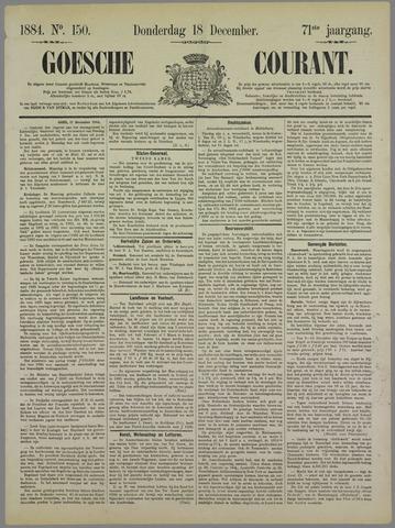 Goessche Courant 1884-12-18