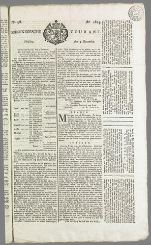 Zierikzeesche Courant 1814-12-09