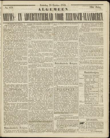 Ter Neuzensche Courant. Algemeen Nieuws- en Advertentieblad voor Zeeuwsch-Vlaanderen / Neuzensche Courant ... (idem) / (Algemeen) nieuws en advertentieblad voor Zeeuwsch-Vlaanderen 1873-10-25