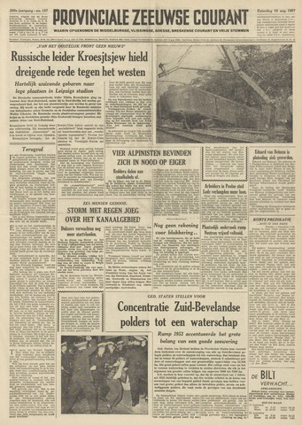 Provinciale Zeeuwse Courant 1957-08-10