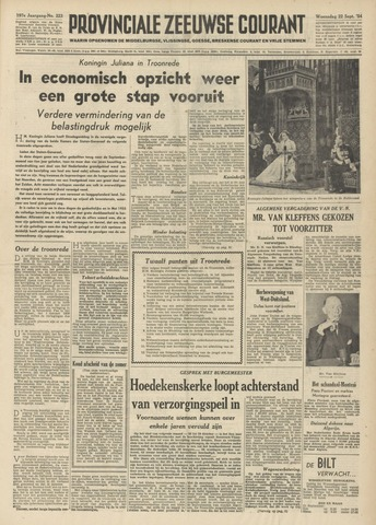 Provinciale Zeeuwse Courant 1954-09-22