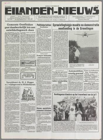 Eilanden-nieuws. Christelijk streekblad op gereformeerde grondslag 1985-09-17