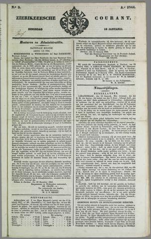Zierikzeesche Courant 1844-01-16