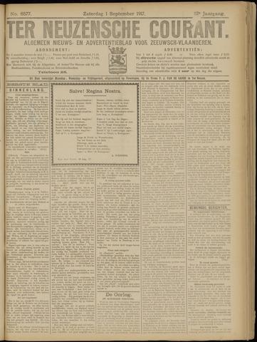 Ter Neuzensche Courant. Algemeen Nieuws- en Advertentieblad voor Zeeuwsch-Vlaanderen / Neuzensche Courant ... (idem) / (Algemeen) nieuws en advertentieblad voor Zeeuwsch-Vlaanderen 1917-09-01