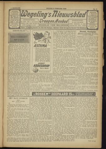 Zeeuwsch Nieuwsblad/Wegeling's Nieuwsblad 1929-02-08