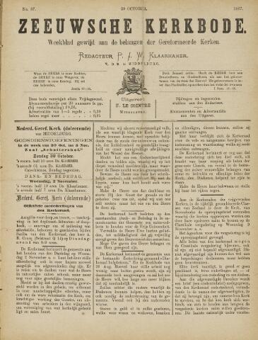 Zeeuwsche kerkbode, weekblad gewijd aan de belangen der gereformeerde kerken/ Zeeuwsch kerkblad 1887-10-29