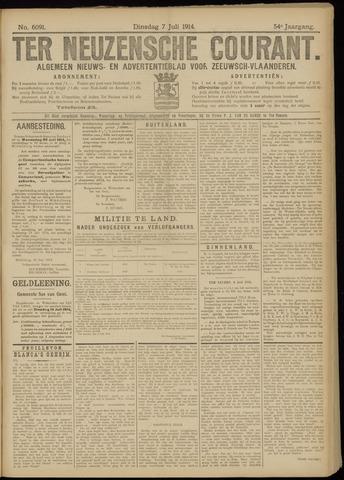 Ter Neuzensche Courant. Algemeen Nieuws- en Advertentieblad voor Zeeuwsch-Vlaanderen / Neuzensche Courant ... (idem) / (Algemeen) nieuws en advertentieblad voor Zeeuwsch-Vlaanderen 1914-07-07