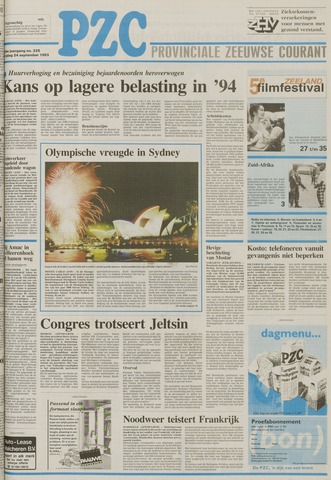 Provinciale Zeeuwse Courant 1993-09-24