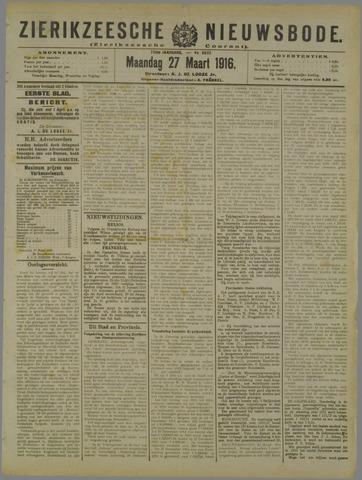 Zierikzeesche Nieuwsbode 1916-03-27