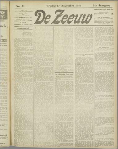 De Zeeuw. Christelijk-historisch nieuwsblad voor Zeeland 1916-11-17