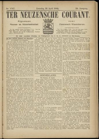 Ter Neuzensche Courant. Algemeen Nieuws- en Advertentieblad voor Zeeuwsch-Vlaanderen / Neuzensche Courant ... (idem) / (Algemeen) nieuws en advertentieblad voor Zeeuwsch-Vlaanderen 1882-04-22