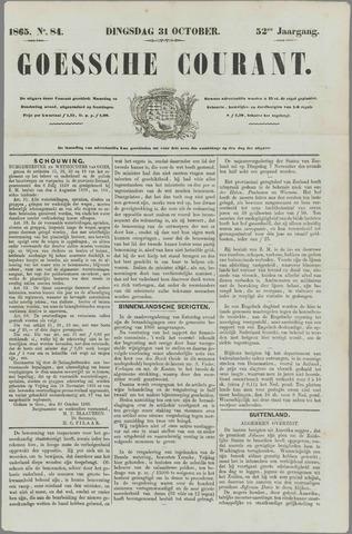 Goessche Courant 1865-10-31