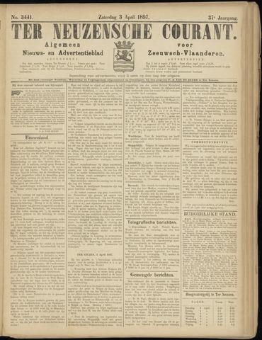 Ter Neuzensche Courant. Algemeen Nieuws- en Advertentieblad voor Zeeuwsch-Vlaanderen / Neuzensche Courant ... (idem) / (Algemeen) nieuws en advertentieblad voor Zeeuwsch-Vlaanderen 1897-04-03