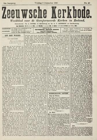 Zeeuwsche kerkbode, weekblad gewijd aan de belangen der gereformeerde kerken/ Zeeuwsch kerkblad 1920-12-03