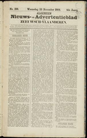 Ter Neuzensche Courant. Algemeen Nieuws- en Advertentieblad voor Zeeuwsch-Vlaanderen / Neuzensche Courant ... (idem) / (Algemeen) nieuws en advertentieblad voor Zeeuwsch-Vlaanderen 1864-11-23