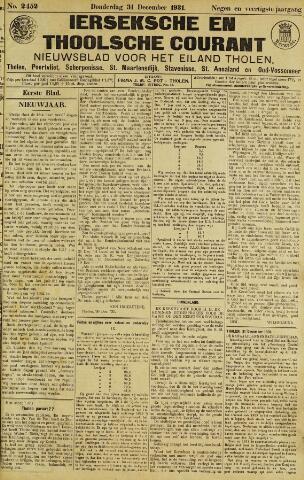Ierseksche en Thoolsche Courant 1931-12-31