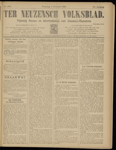 Ter Neuzensch Volksblad. Vrijzinnig nieuws- en advertentieblad voor Zeeuwsch- Vlaanderen / Zeeuwsch Nieuwsblad. Nieuws- en advertentieblad voor Zeeland 1915-12-01