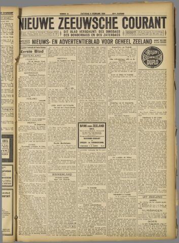 Nieuwe Zeeuwsche Courant 1924-02-09