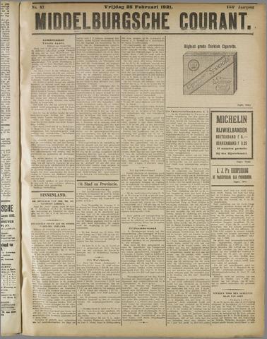 Middelburgsche Courant 1921-02-25