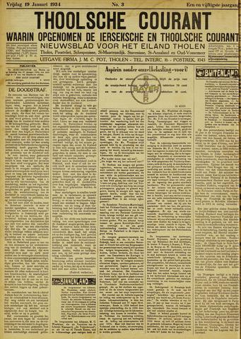 Ierseksche en Thoolsche Courant 1934-01-19