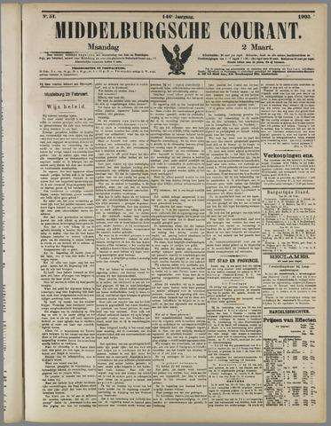 Middelburgsche Courant 1903-03-02