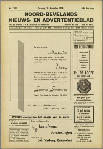 Noord-Bevelands Nieuws- en advertentieblad 1950-12-16